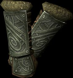 Ironhand Gauntlets  BASE ARMOR:12 Weight:4 BASE VALUE:444 Additional Effects: Two-Handed attacks do 15% more damage.Class: Heavy Armor, Gauntlets Upgrade Material: Iron Ingot PERK: Arcane Blacksmith