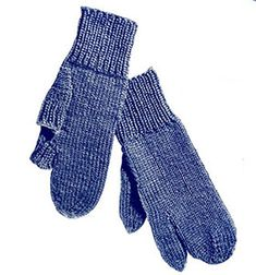 Marksman Gloves knit pattern originally published in Knit for Defense, Spool Cotton Book 172. #knittingpatterns
