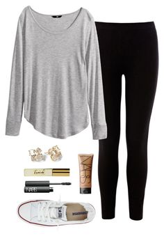 """//SUPER IMPORTANT READ D//"" by oliviafashion47 ❤ liked on Polyvore featuring Warehouse, Kate Spade, NARS Cosmetics, H&M and Converse"