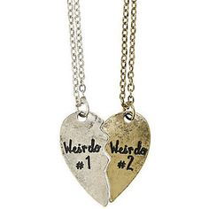 LOVEsick Weirdo Best Friends Necklace Set | Hot Topic