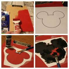 DIY Mickey Mouse Clipboard