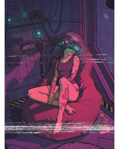 Zoning out while surfing the net, cyberpunk / sci-fi Cyberpunk 2077, Cyberpunk Kunst, Cyberpunk Girl, Cyberpunk Tattoo, Cyberpunk Fashion, Arte Sci Fi, Sci Fi Art, Glitch Art, Vhs Glitch