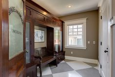 Mudroom in a 1908 Craftsman with Gorgeous Woodwork in Pasadena - Hooked on Houses