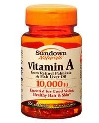 Sundown Naturals - Vitamin A, 10,000IU, 100 softgels Lowest price is $2.89 from 1 stores.
