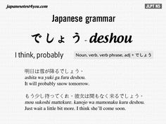 Learn Japanese Grammar Flashcard