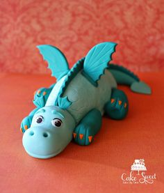 Baby dragon cake topper RKT / fondant by Taleenshop on Etsy, $50.00