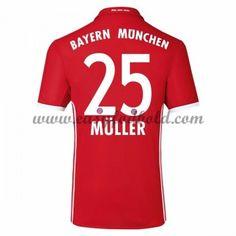 Fodboldtrøjer Bundesliga Bayern Munich 2016-17 Muller 25 Hjemmetrøje