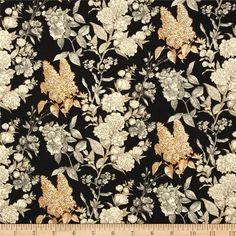 Sew Vintage Etched Flower Garden Black