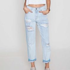 Host Pick,Final Sale. Carmar distressed bf jeans Last Chance!!!!  Will be removing listing soon. These boyfriend jeans with stitching is super cute and is so flattering on.  Brand new with tags.  Last chance.  I also have a size 27.  Lmk and I can list them for you. LF Jeans Boyfriend