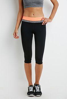 $22. Colorblock Yoga Capri Leggings | Forever21 - 2049257196