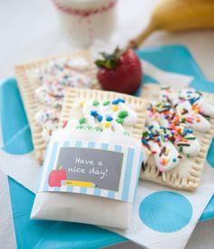 school themed snack - homemade pop tarts