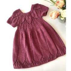 Knit Dress, Crochet Baby, Dresses With Sleeves, Summer Dresses, Long Sleeve, Color, Fashion, Crochet Dress Girl, Jackets