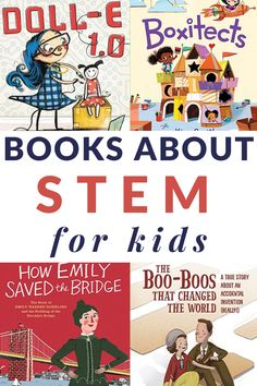 STEM Books for Kids STEM books for kids that include the best of the best read-alouds for young children. A printable book list is also included. Art Books For Kids, Best Children Books, Toddler Books, Young Children, Childrens Books, Children Reading, Pre-school Books, Math Books, Science Books