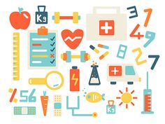 Health Icons Set  by Fulden Bilgiçataç