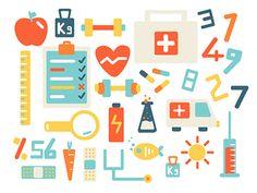 Health Icons Set  by Fulden Bilgiçataç