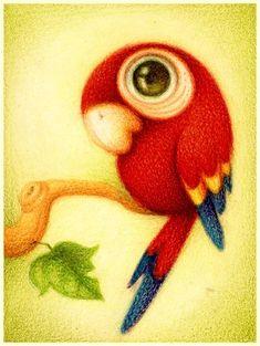 So cute-HJM- Guara roja. by ~faboarts on deviantART Cute Drawings, Animal Drawings, Paint By Number Kits, 5d Diamond Painting, Diamond Drawing, Bird Art, Cute Cartoon, Cute Art, Amazing Art