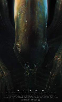 Alien Movie Poster, Aliens Movie, Arte Alien, Alien Art, Science Fiction, Giger Alien, Hr Giger, Les Aliens, Alien 1979