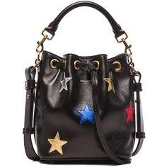 Saint Laurent Small Patchwork Stars Emmanuelle Bucket Bag