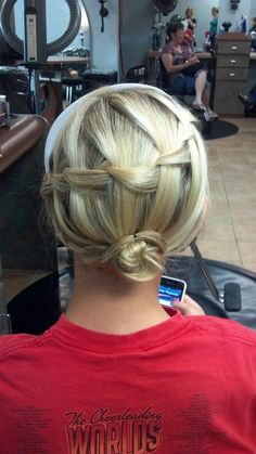 Waterfall Bun :) my creation @ Pure Salon, Garner, NC 919-773-0404