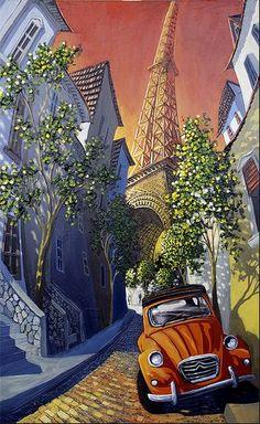 A 2CV and Paris, what else!