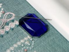 Faceted Rectangular Needle Minder Beaded Needle by TJBdesigns Needle Minders, 4th Of July Celebration, Rare Earth Magnets, Knitting Supplies, Pin Cushions, Needlepoint, Craft Projects, My Etsy Shop, Cross Stitch