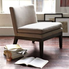 Find This Pin And More On Karen Guest Bedroom. West Elm Slipper Chair ...