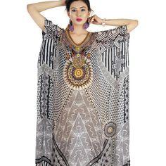 e2b85840c8660 Silk kaftans Full length beaded beach kaftan 259 One size ( - Depop Silk  Kaftan,