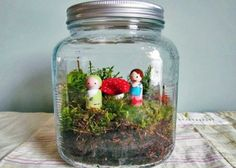 the sweetest little fairy garden terrarium.  And it would probably be more for me than for my girl.