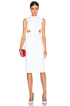 Collared Dress with Cutouts