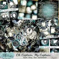 """Scrapbooking im Rollinest: """"OH CAPTAIN, MY CAPTAIN"""" Part 1: """"THE DARKNESS"""" by Feli Designs"""