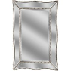 deco mirror 36 in w scalloped metro beaded single mirror in silver at the home depot mobile