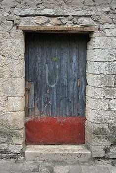 Michael Rymer photography    |  Door / Red Kick-Plate, 2003   |    Saint Guilhem le Désert