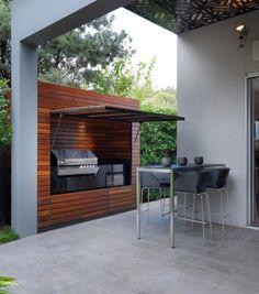 barbecue fixe encastré de design ultramoderne
