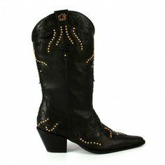 Black cowboy boots by Carmen Steffens