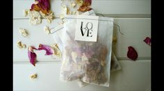 Beautiful wedding confetti. Hand stitched transparent paper bag filled with dried English petals. A stylish alternative to the rice paper horseshoe!  http://m.ebay.co.uk/itm/221708747257?nav=SEARCH