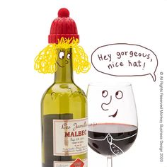 Transform lifeless wine bottles into something you want to take home and cuddle (or at least drink). Just plug a partly full bottle with a bottle Beanie and keep your wine for later enjoyment. A great idea for dinner parties and table arrangements.