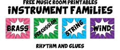 Free Music Room Printables - Rhythm and Glues