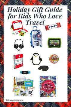 To help with this year's shopping, here's our holiday gift guide for kids who travel. These presents are educating and entertaining, perfect for all ages.