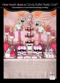 | How much does a Candy Buffet really cost | http://soiree-eventdesign.com