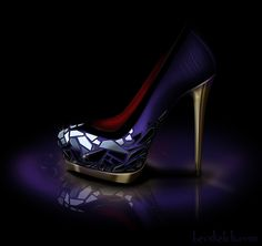 I wish this heel existed -- Evil Queen inspired pump.