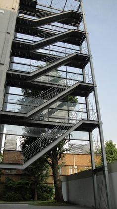 Stair Elevator, Glass Elevator, Staircase Architecture, Staircase Design, Stair Design, Steel Stairs, Stair Detail, Exterior Stairs, Home Theater Rooms