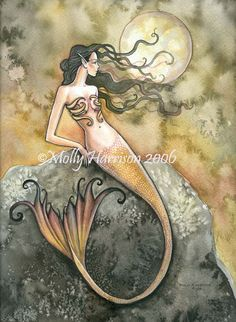 'Amber Tail' ~ Mermaid by Molly Harrison