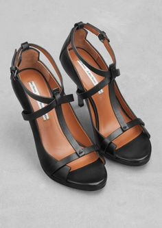 Leather t-strap sandals | Leather t-strap sandals | & Other Stories