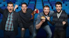A League of their Own: The irrepressible James Corden sits in the hosting seat with regular team captains Jamie Redknapp and Freddie Flintoff, alongside permanent panelist Jack Whitehall. They're joined by sports and entertainment stars.  Now in its eighth series, our high energy supersized panel show is firmly established amongst the elite with its unique blend of sports, comedy and entertainment. On UK channel Sky1.