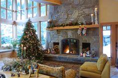 Rustic Fireplace by Debbie Evans