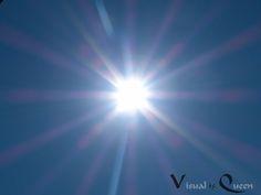 """""""ICH SEHE BLAU, ROT, LILA, GELB UND LEICHTES GRÜN Und dabei ist es eigentlich nur eine Sonne."""""""
