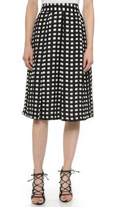 Checkered Midi Skirt http://picvpic.com/women-skirts-midi-skirts/j-o-a-checkered-midi-skirt#Black~White?ref=PCFeTk