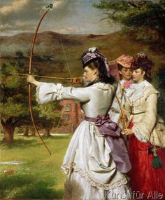 The Fair Toxophilites, 1872. WILLIAM POWELL FRITH... 1/19/1819--11/8/1909