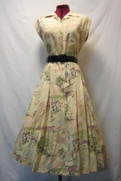 Cute city dress / 1950s60s vintage by MarshmallowElectra on Etsy, $80.00