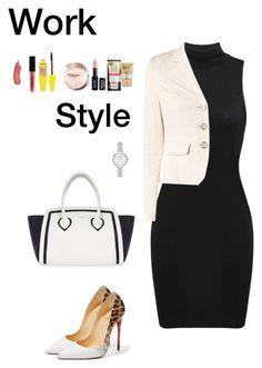 """Work Style (4)"" by irisazlou on Polyvore featuring mode, Taifun, Christian Louboutin, Furla, Kate Spade, Garnier, NYX et Maybelline"